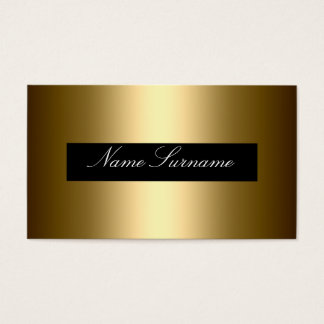 Black  gold Abstract stylish corporate Business Card