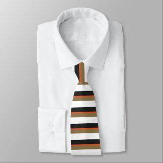 Black Gold and Orange Banded Tie