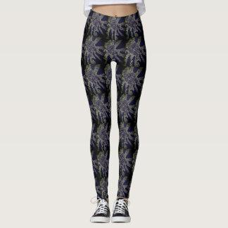 Black, gold, and purple SWIRLS Leggings