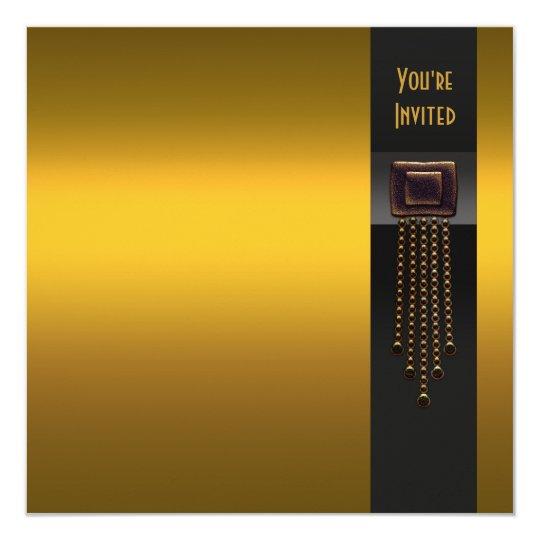 black gold art deco party invitation template zazzle co uk