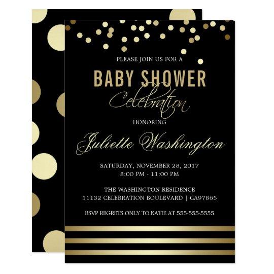 Black & Gold Baby Shower | Confetti &