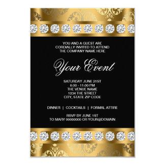 Black Gold Black Tie Corporate Party Template 9 Cm X 13 Cm Invitation Card