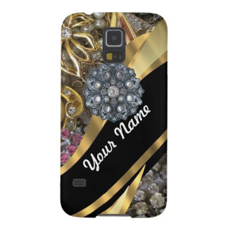 Black & gold bling galaxy s5 cases