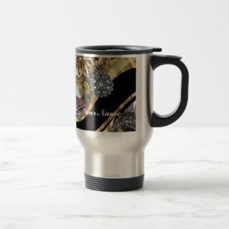 Black gold bling mug