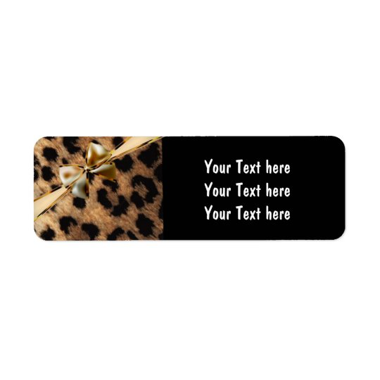 Black & Gold Bow Leopard Cheetah Glam Party