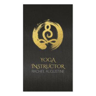 Black Gold Calligraphy Yoga Meditation ZEN Symbol Pack Of Standard Business Cards