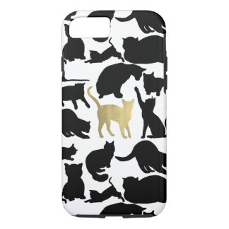 Black Gold Cats iPhone 8/7 Case