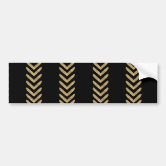Black Gold Chevron Arrows Stripes Bumper Sticker