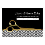 Black Gold Chevrons Salon Appointment Reminder Pack Of Chubby Business Cards