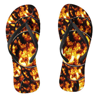 Black Gold Circles Flip Flops