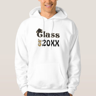 Black & Gold Class of 20XX Hooded Pullovers