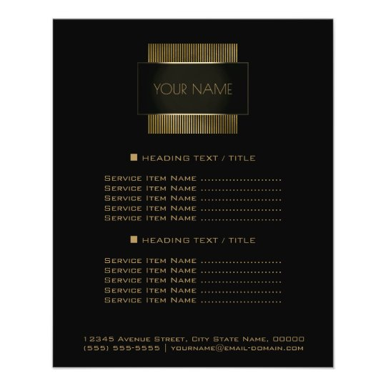 Black Gold Conceptual Minimal Name Geometry Flyer