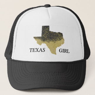 Black Gold Confetti Texas Girl Trucker Hat