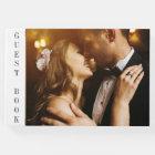 Black & Gold   Custom Photo Wedding Guest Book