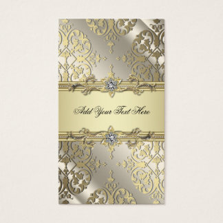 Black Gold Damask Business Cards