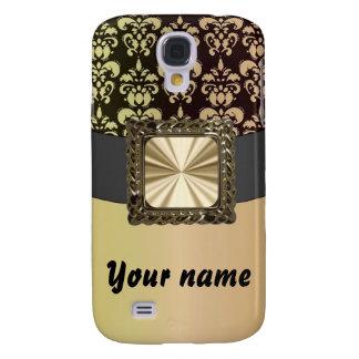 Black & gold damask customizable galaxy s4 case