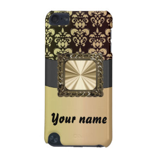 Black & gold damask customizable iPod touch 5G case