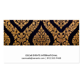 Black & Gold Damask Traditional Contemporary Print Business Cards