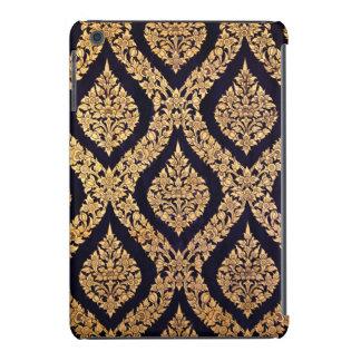 Black Gold Damask Traditional Contemporary Print iPad Mini Retina Cover