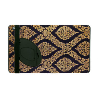 Black & Gold Damask Traditional Contemporary Print iPad Cover