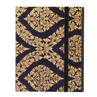 Black Gold Damask Traditional Contemporary Print iPad Cases