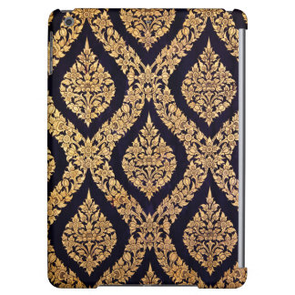 Black Gold Damask Traditional Contemporary Print iPad Air Cases