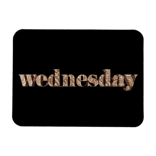 Black Gold Days of The Week Wednesday Typography