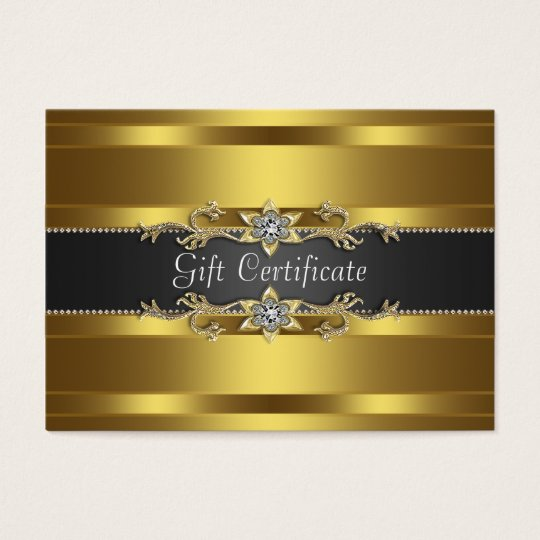 Black Gold Diamond Gold Business Gift Certficate Business