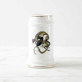 Black & Gold Dragons Mug