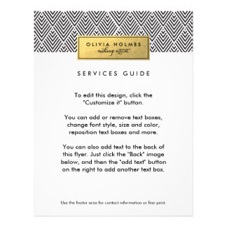 Black & Gold Faux Foil Chevron Pattern Flyer