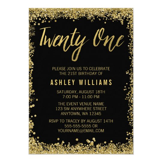 Birthday Invitations Announcements Zazzle UK - Birthday invitation gold coast
