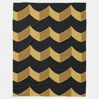 Black Gold Fleece Blanket