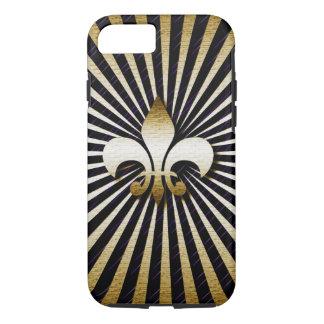 Black & Gold Fleur-de-Lis I Phone 6 Case