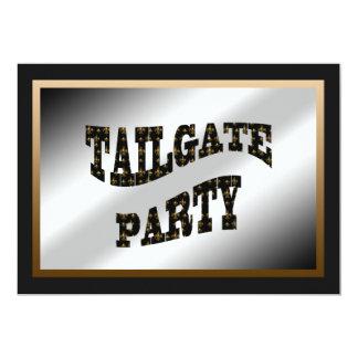 Black Gold Fleur de Lis Tailgate Party 13 Cm X 18 Cm Invitation Card