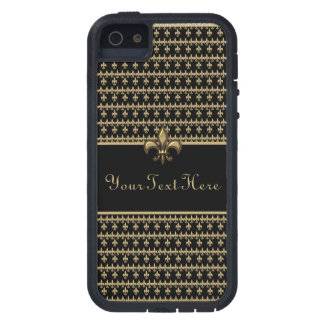 Black Gold Fleur de Lis Tough Xtreme iPhone 5 Case