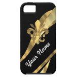 Black & gold fleur de lys iPhone 5 cases