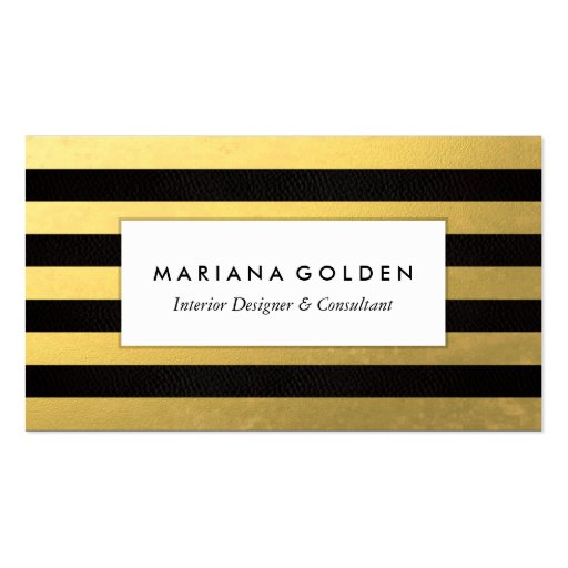 Premium gold look business card templates page12 for A touch of gold tanning salon