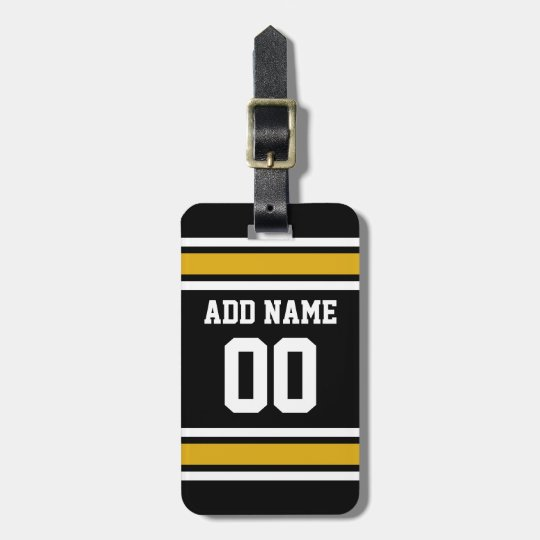 Black Gold Football Jersey Custom Name Number Luggage