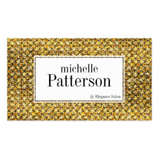 Black Gold Glitter Look Appointment Business Cards