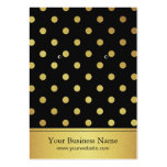 Black Gold Glitter Polka Dots Earring Display Card Pack Of Chubby Business Cards