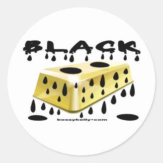 Black,Gold,Gold Bar,Hard Hat Sticker,Oil Round Sticker