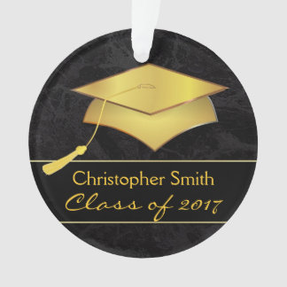 Black Gold Grad Cap - Graduation Photo Gift