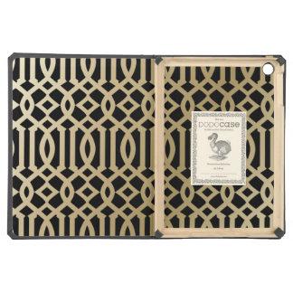 Black & Gold Gradient Trellis | iPad Dodo Case Cover For iPad Air
