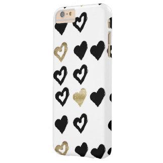 Black & Gold Hearts Phone Case