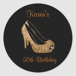 Black gold High Heel Stickers