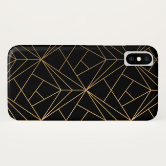 Black & Gold iPhone X Case