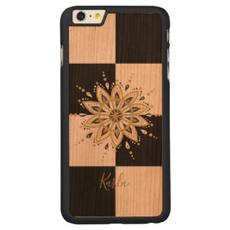Black & Gold Mandala With Geometric Background 5 Carved Cherry iPhone 6 Plus Case