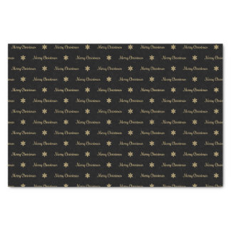 Black & Gold  Merry Christmas Tissue Paper