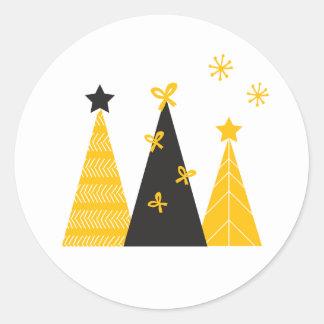Black & Gold Modern Christmas Tree Stickers