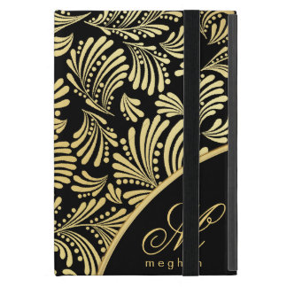 Black Gold Monogram Folio iPad Mini